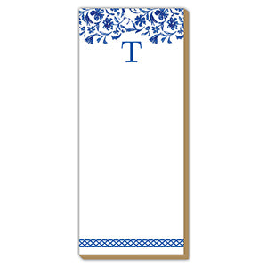Blue and White Monogram T Luxe Skinny Pad