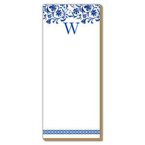Blue and White Monogram W Luxe Skinny Pad