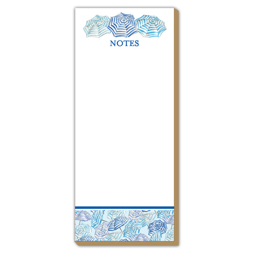 Notes Blue Umbrellas Luxe Skinny Pad