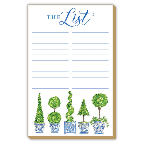 Topiary The List Large Luxe Notepad