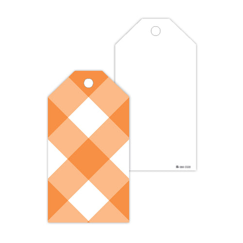 Orange Buffalo Check Gift Tags