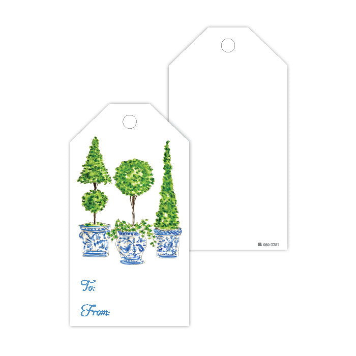 Handpainted Topiary Trio 2 Gift Tags