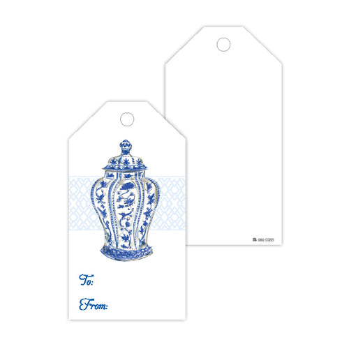 Blue Urn Gift Tags
