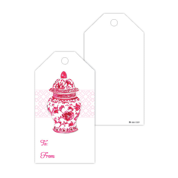 Pink Urn Gift Tags