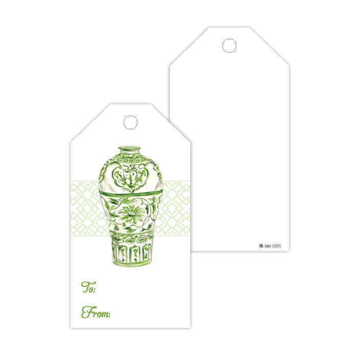 Green Urn Gift Tags