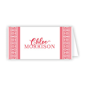 Asian Stripe Redk Place Card