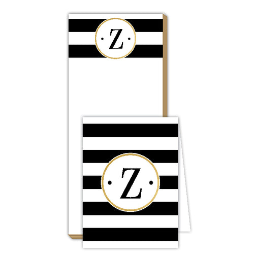 Black Stripe Z NotePad | NoteSet