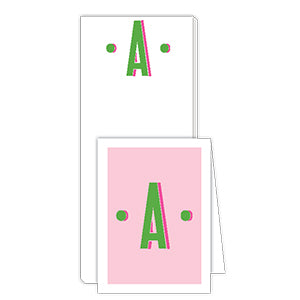 Color Block Monogram A Notepad Note Set