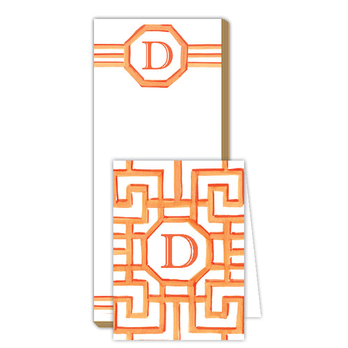 Lattice Monogram D Notepad Note Set