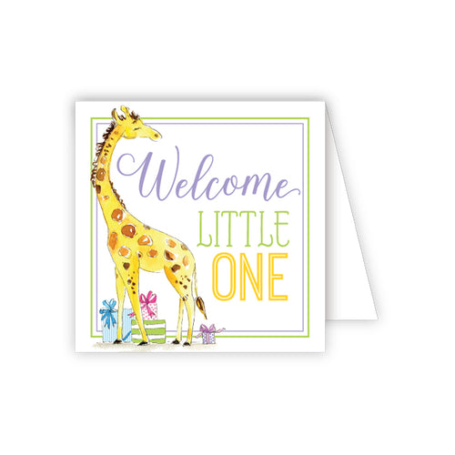 Welcome Little One Giraffe with Gifts Enclosure Card