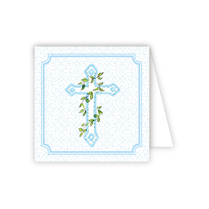 Blue Cross with Ivy Enclosure Card