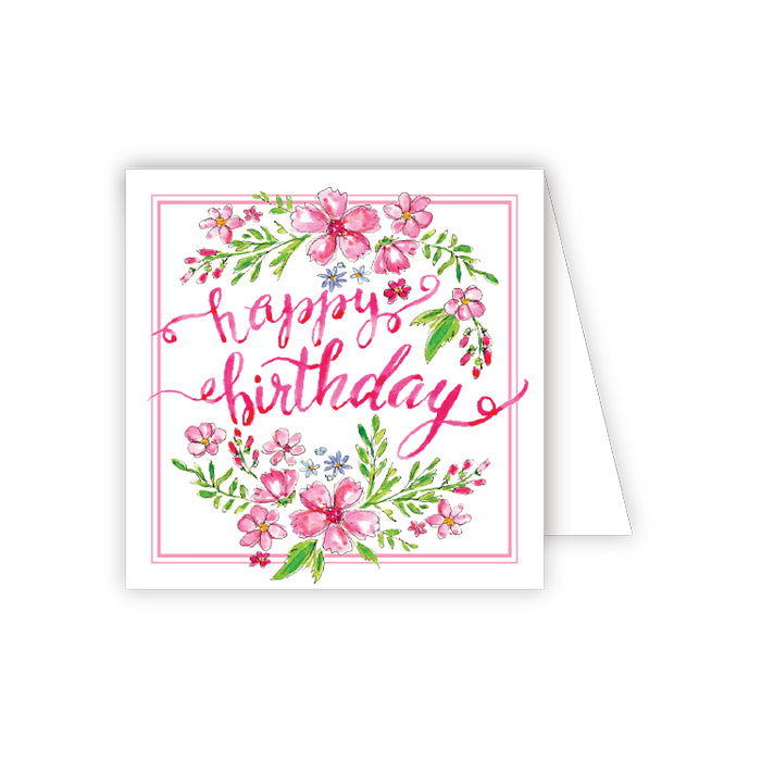 Happy Birthday Flowers Enclosure Card