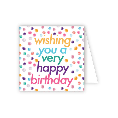 Birthday Confetti Enclosure Card