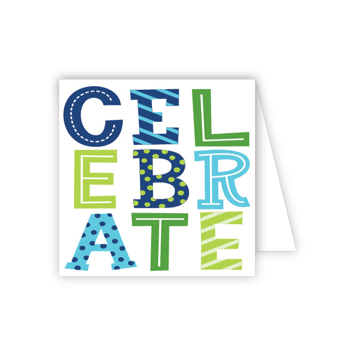 CELEBRATE Blue Enclosure Card