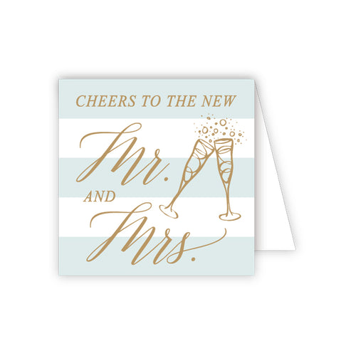 Cheers to the new Mr. and Mrs. Enclosure Card