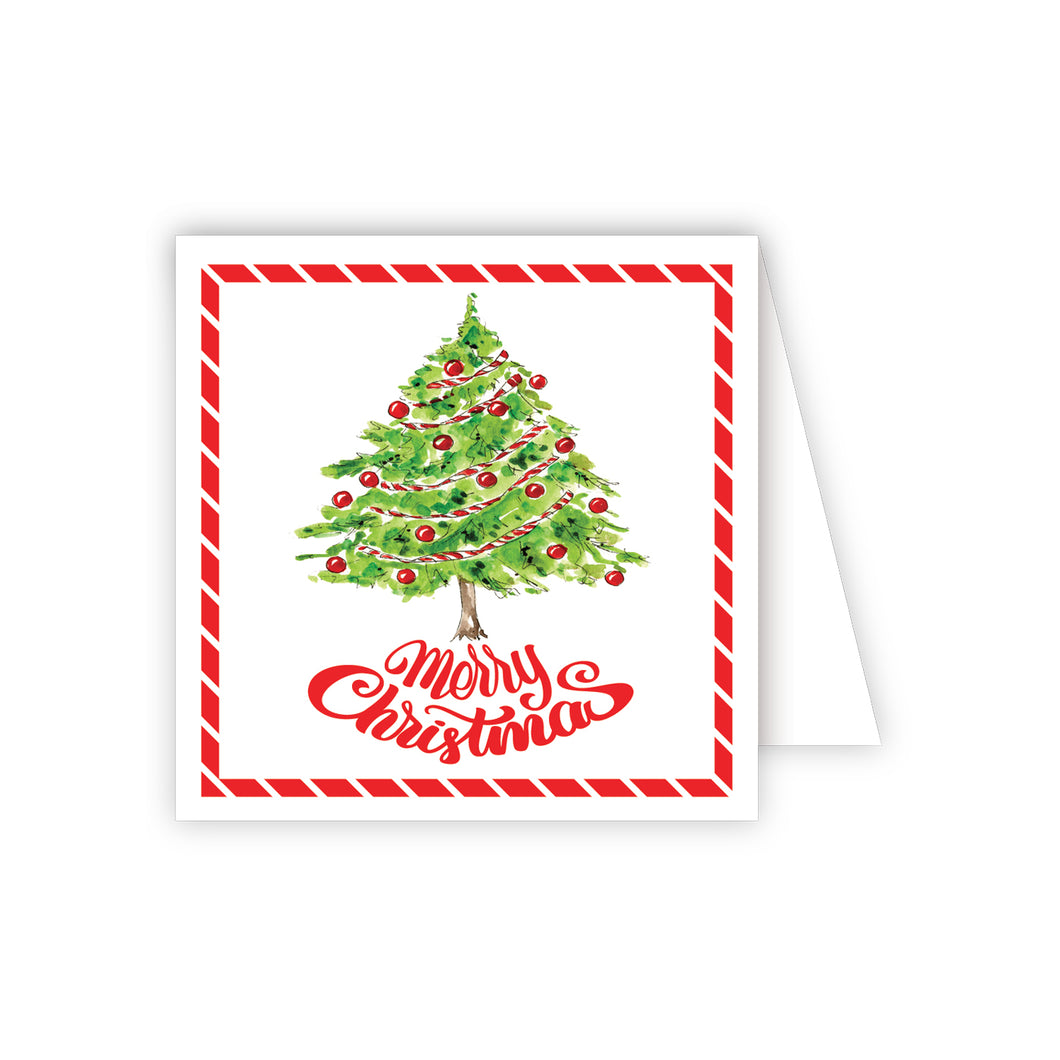 Merry Christmas Tree Enclosure Card