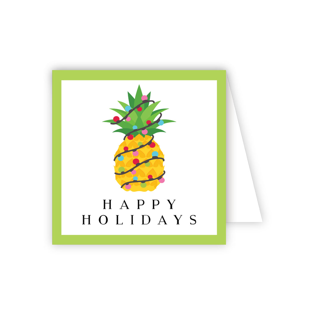 Happy Holidays Pinapple Enclosure Card