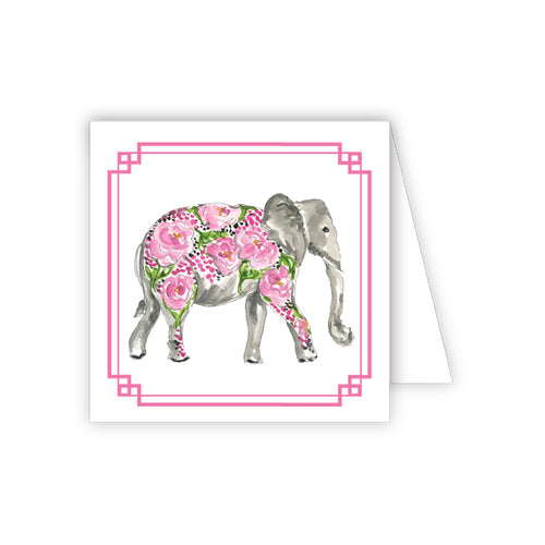 Pink Elephant Enclosure Card