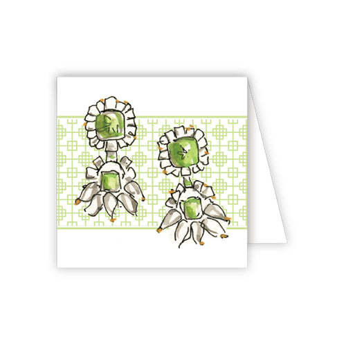 Green Earrings Enclosure Card