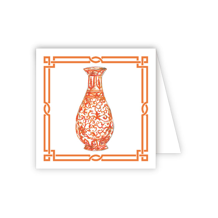 Orange Urn Enclosure Card