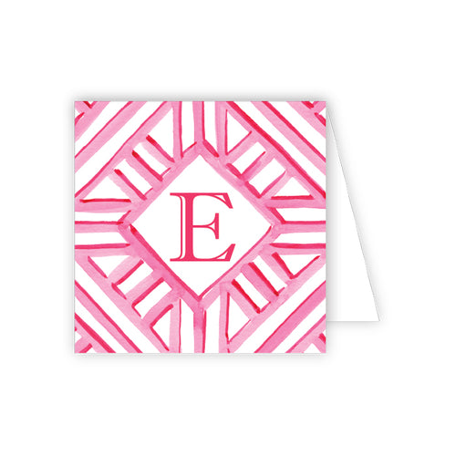 Lattice Monogram E Enclosure Card