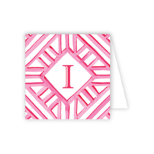 Lattice Monogram I Enclosure Card