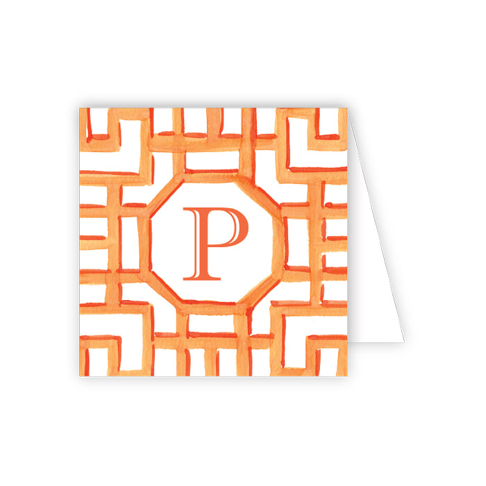 Lattice Monogram P Enclosure Card