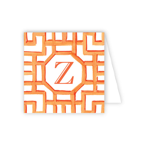 Lattice Monogram Z Enclosure Card