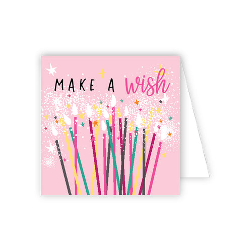 Make A Wish Candles Enclosure Card