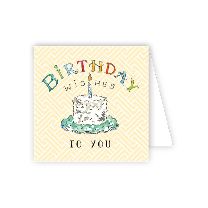 Birthday Wishes To You Enclosure Card