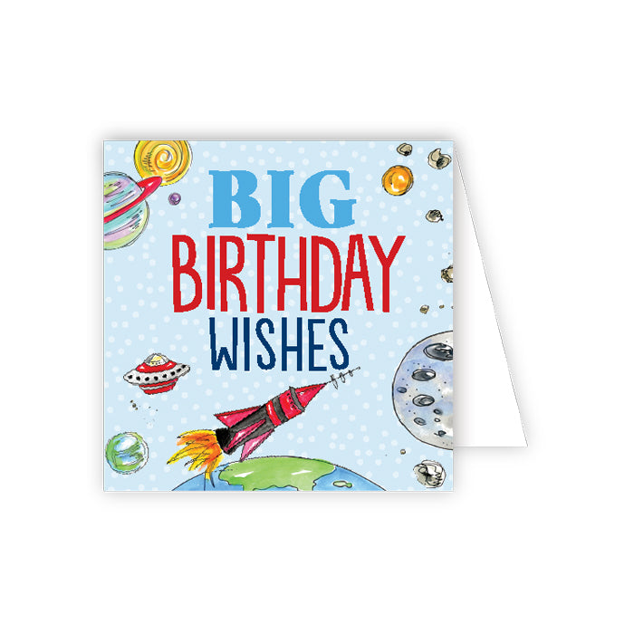 Big Birthday Wishes Outerspace Enclosure Card