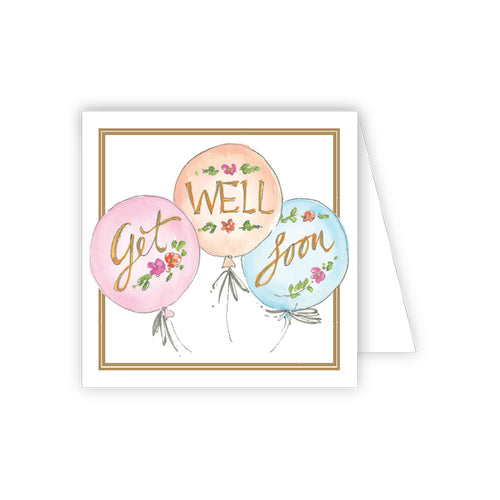Get Well Soon Balloons Enclosure Card