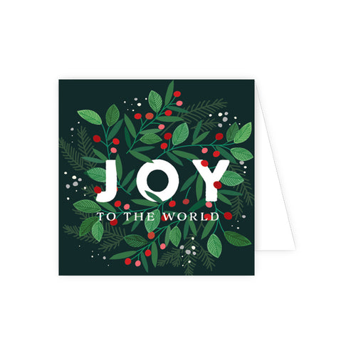 Joy To The World Berry Wreath Enclosure Card