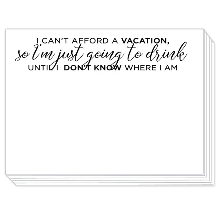 I Can't Afford a Vacation Slab Pad