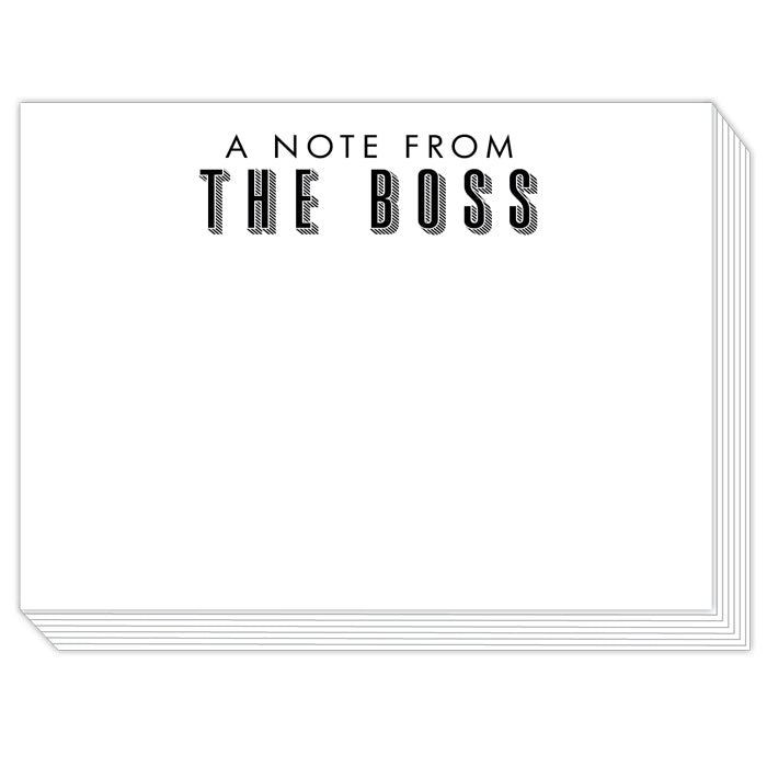 A Note from the Boss Slab Pad