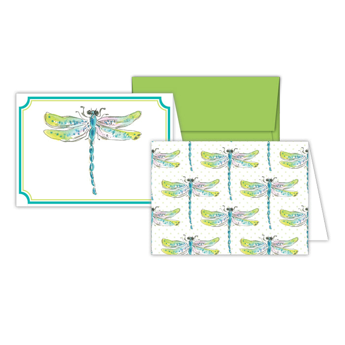 Handpainted Dragonfly and Handpainted Dragonflies Petite Note