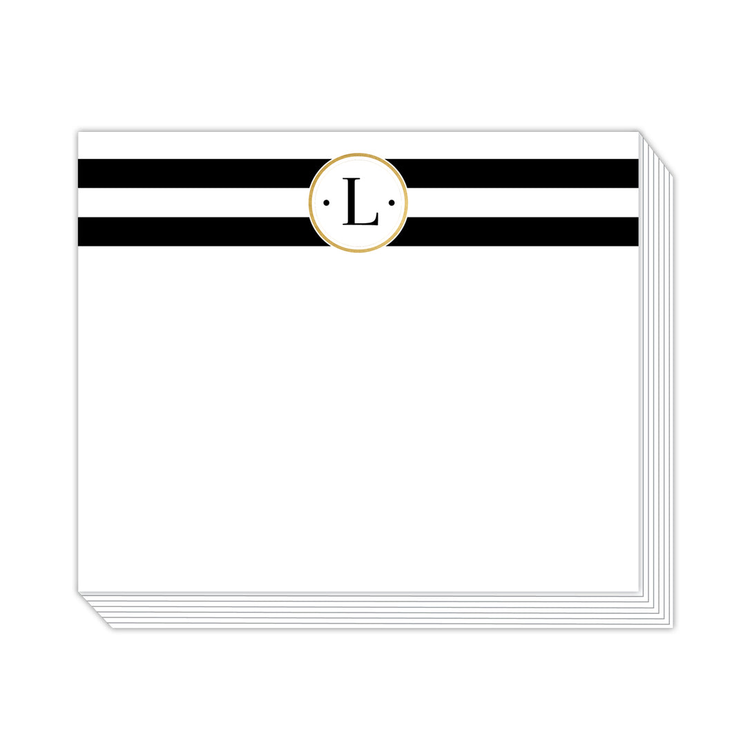 Black Stripe L Notepad