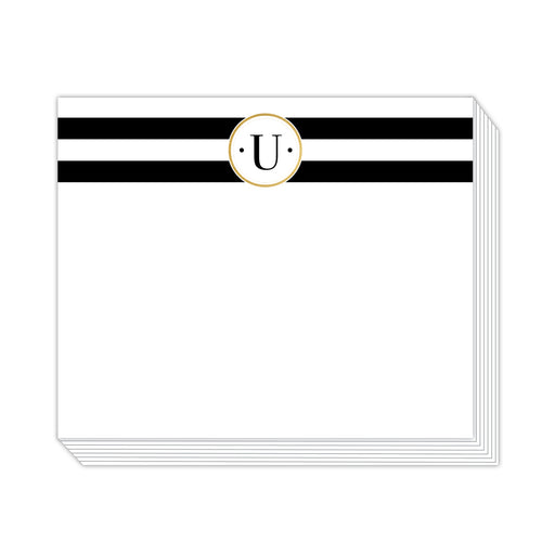 Black Stripe U Notepad