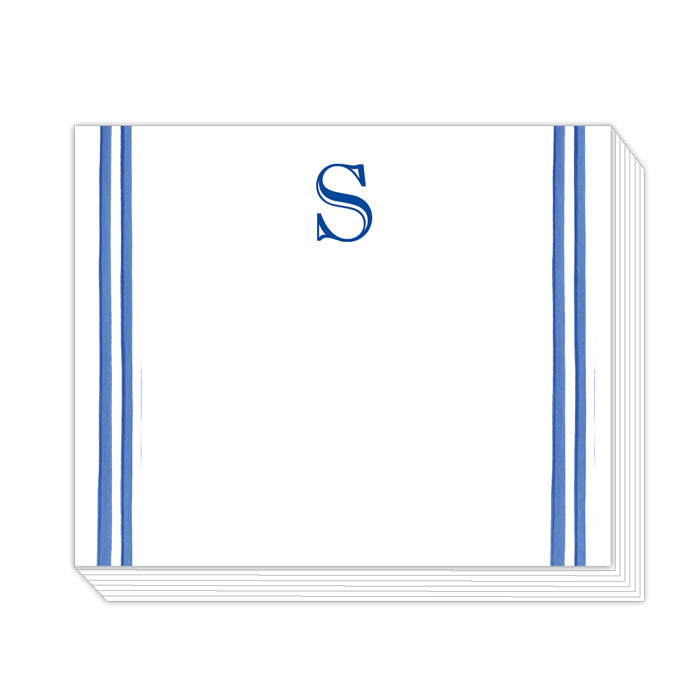 Lattice Monogram S Notepad