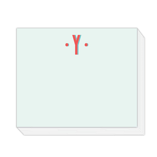 Color Block Monogram Y Notepad