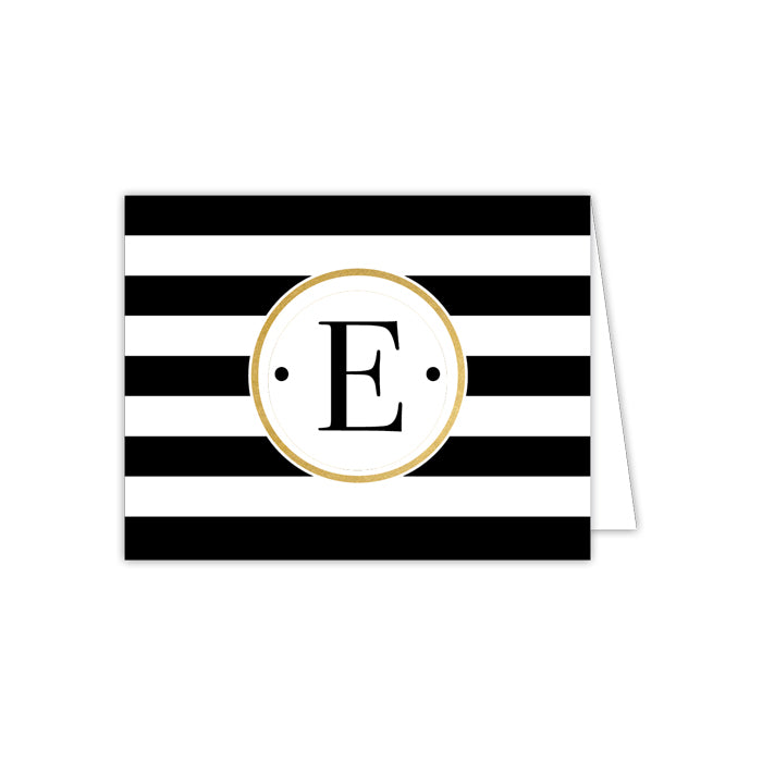 Black Stripe E Folded  Note