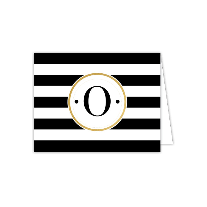 Black Stripe O Folded  Note
