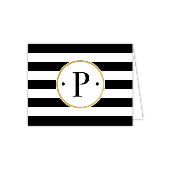 Black Stripe P Folded  Note