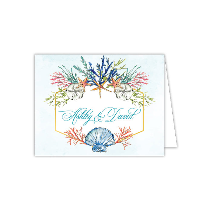 Blue Coral Folded Note
