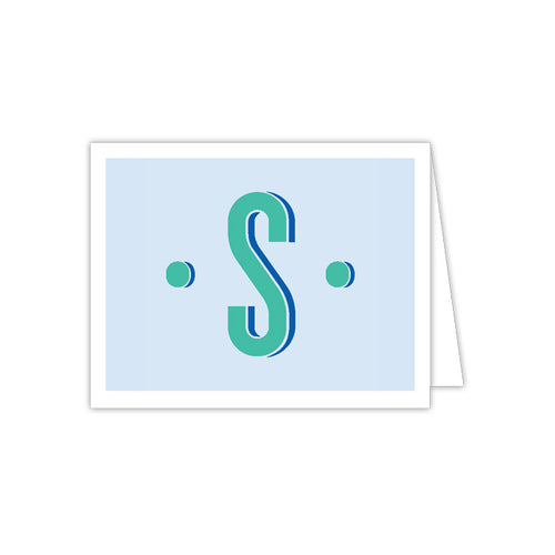 Color Block Monogram S Folded Note