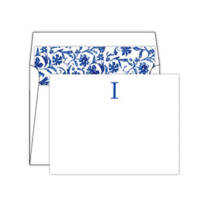 Blue and White  Monogram I Social Set