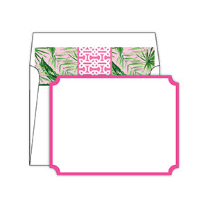 Hot Pink with Palm Leaves Liner Social Set
