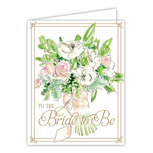To The Bride To Be Bouquet Small Folded Greeting Card