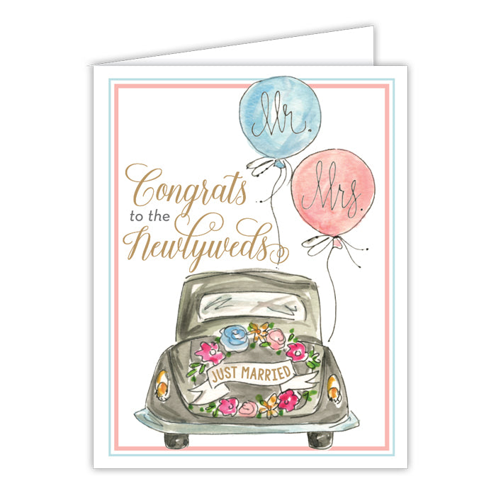 Congrats To The Newlyweds Small Folded Greeting Card