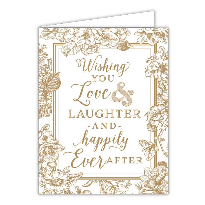 Wishing You Love & Laughter Small Folded Greeting Card